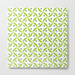 Optical pattern 167 green Metal Print