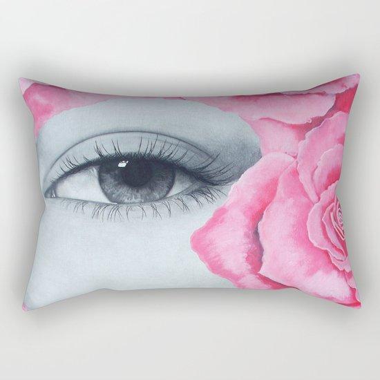 With my roses Rectangular Pillow