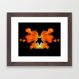 Rorschach Ink Blot Art Framed Art Print