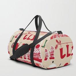 winter gear ivory Duffle Bag