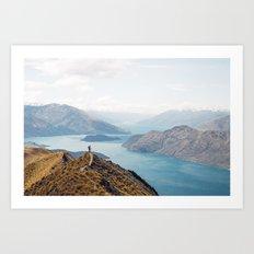 The top of Roys Peak Art Print