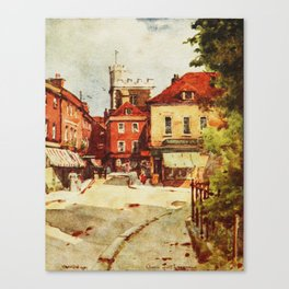 Church of St. Lawrence in Winchester by Wilfred Ball Canvas Print