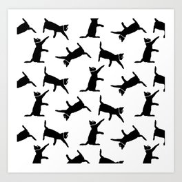 Cats on White Art Print