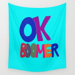 OK BOOMER in 1960s colors Wall Tapestry