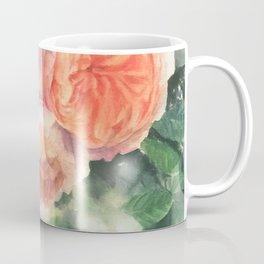 Watercolor Apricot English Rose Garden  Coffee Mug
