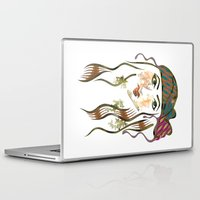beth hoeckel Laptop & iPad Skins featuring 'Hanna-Beth' Illustration by Suki Sabur