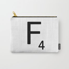 Letter F - Custom Scrabble Letter Tile Art - Scrabble F Carry-All Pouch