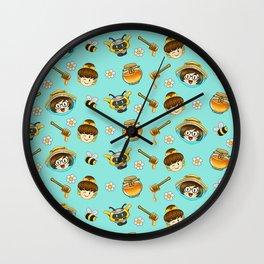 Mei and Dva bee-watch Wall Clock