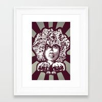 erykah badu Framed Art Prints featuring Erykah Badu by Triptih