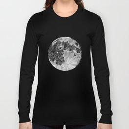 Abstract Full Moon Long Sleeve T-shirt