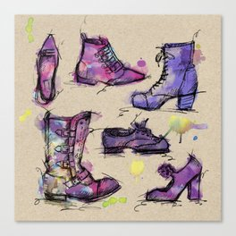 Sketchy Shoes Canvas Print