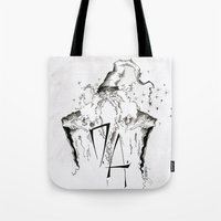 army Tote Bags featuring Dumbledore's Army by Jena Sinclair