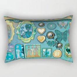 Vintage Tag Collection Rectangular Pillow