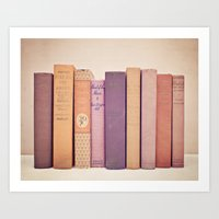 literary Art Prints featuring Literary Gems II by Laura Ruth
