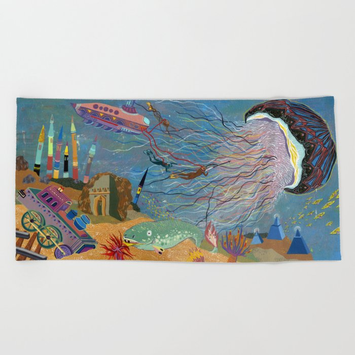 Divers Beach Towel