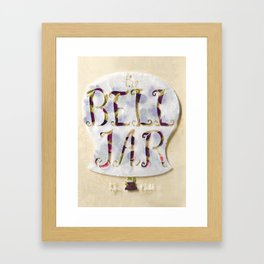 The Bell Jar by Sylvia Plath Book Cover Framed Art Print