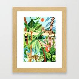 Jungle Pals Framed Art Print