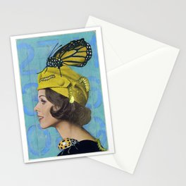 Woman with Butterfly Stationery Cards
