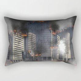 Destruction apocalypse war disaster Rectangular Pillow