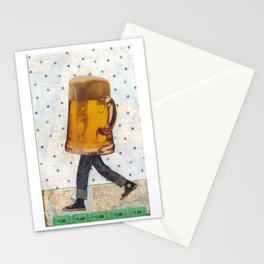 Walking Beer Stationery Cards