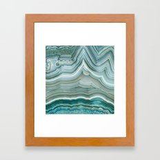 Agate Crystal Blue Framed Art Print