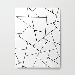 Black White Geometric Glam #1 #geo #decor #art #society6 Metal Print
