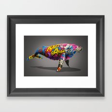 Tagged Whale Framed Art Print