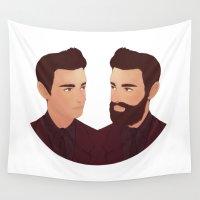 beard Wall Tapestries featuring Beard no Beard by Samantha Wynell-Mayow