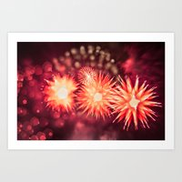 philippines Art Prints featuring Fireworks - Philippines 12 by David Johnson