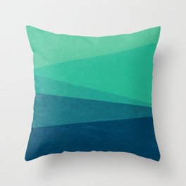 Stripe VIII Minty Fresh Throw Pillow