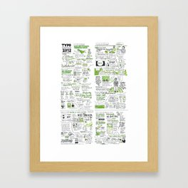 typo sf 2012 Framed Art Print