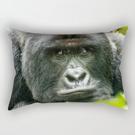 Silverback starring at you Rectangular Pillow