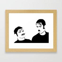 Mustache Made Me Do It Framed Art Print