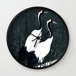 Japanese Cranes / Sayuri Wall Clock
