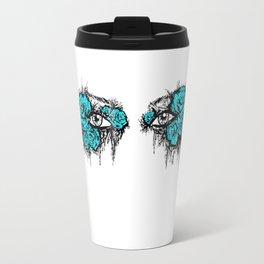 If I Could hide your eyes - blue version Travel Mug