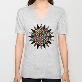 Filigree Flora Unisex V-Neck