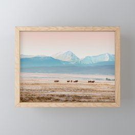 Big Hole Horses Framed Mini Art Print