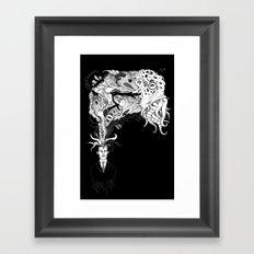 H.P. Monsters Black Tee version Framed Art Print