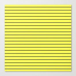 Black Lines On Yellow Canvas Print