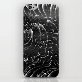 Sea Swirls, Black and White iPhone Skin