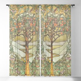 Louis Comfort Tiffany - Decorative stained glass 6. Sheer Curtain