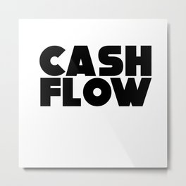 Cash Flow Money Stocks Investment Investor Metal Print
