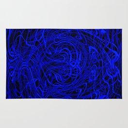 blue swirls Rug