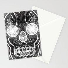 Black skull Stationery Cards