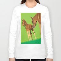 horses Long Sleeve T-shirts featuring Horses by Anderssen Creative Imaging