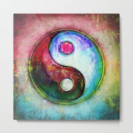 Yin Yang - Colorful Painting IV Metal Print