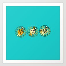 Oh the Sun Art Print