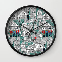 retro circus Wall Clock