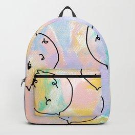 Talk and Listen - Fruit Pattern Lemon Illustration Backpack