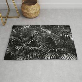 Palm Leaves Art Tropical Plants Rainforest Photography Jungle Rug